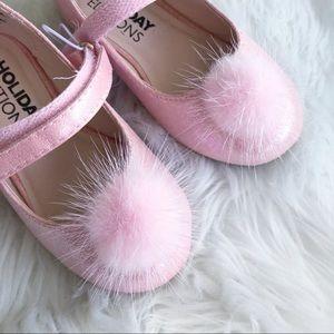 Holiday Editions • Pom Pom Pink Flats